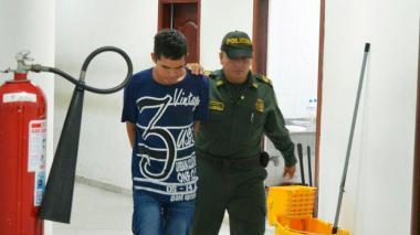 Diego Fernando Betancourt, detenido.