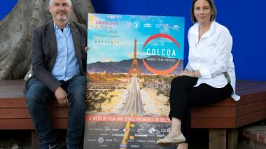 El productor ejecutivo del festival Colcoa, Francois Truffart, y la subdirectora Anouchka Van Riel.