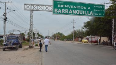 Entrada a Barranquilla por La Cordialidad, donde comenzó la intervención.