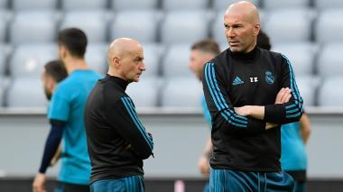Zidane, en el entrenamiento del Real Madrid.