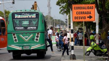 Por obras en La Cordialidad, dictan medidas para buses intermunicipales