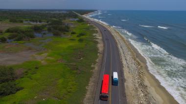 Lista calamidad pública en el Km 19 de la vía Barranquilla - Ciénaga