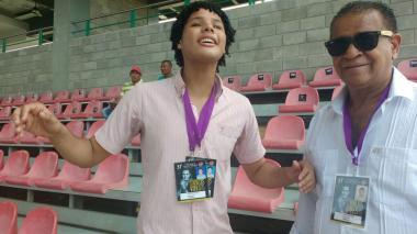 Juan David junto a Andrés Gil.
