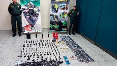 Las armas incautadas en Barranquilla iban para puntos de la Costa y Antioquia: Policía Fiscal