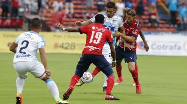 Acción del duelo más reciente entre Junior y Medellín.