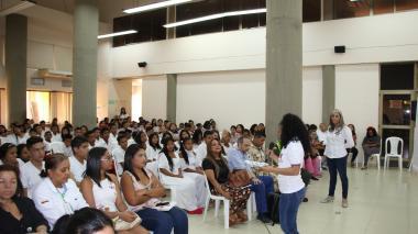 Estudiantes en prácticas de la facultad  de Trabajo Social de la Universidad de la Guajira.