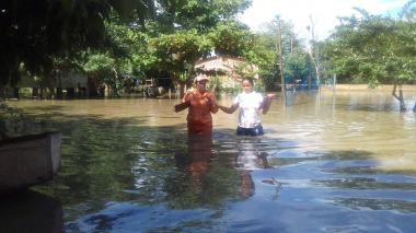 Lluvias dejan 850 afectados en el San Jorge cordobés