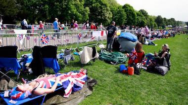 Camping en Windsor a la espera de la boda real