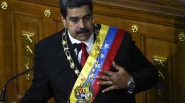 El presidente Maduro durante su intervención ante la Asamblea Constituyente.