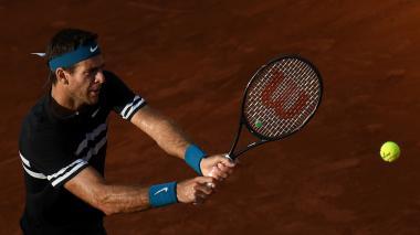 Juan Martín Del Potro, sólido en Roland Garros