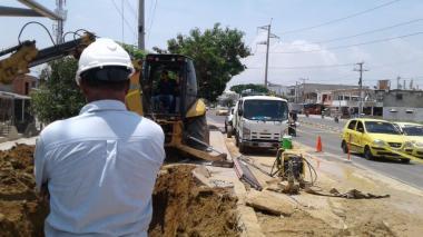 Sin agua varios barrios de Barranquilla y Soledad por reparación de fuga