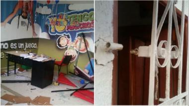 Algunos de los daños que ocasionaron los habitantes de Repelón.