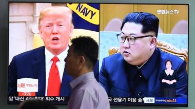 Donald Trump y Kim Jong Un.