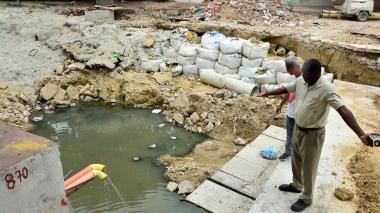 Vecinos de San José reclaman terminación de obras de arroyo