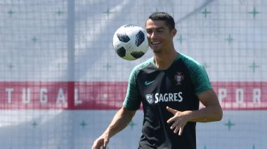 Cristiano, capitán y referente de Portugal.