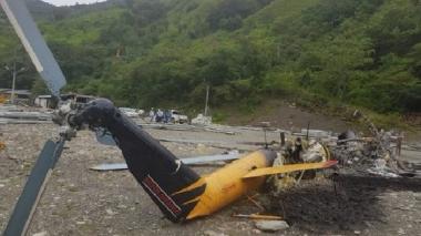 Disidentes de las Farc queman helicóptero de apoyo a emergencia en Hidroituango