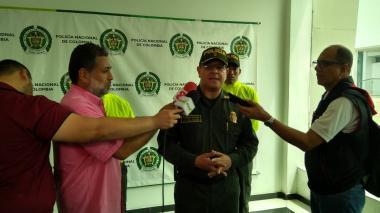 El coronel Jesús De los Reyes, comandante operativo encargado de la Policía Metropolitana.