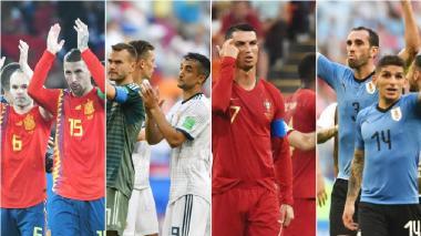 España vs. Rusia y Portugal vs. Uruguay, los primeros octavos del Mundial