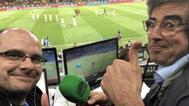 En video | Periodista español grita a todo pulmón el gol de Mina ante Inglaterra