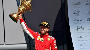 Vettel gana el GP de Gran Bretaña de F1 por delante de Hamilton