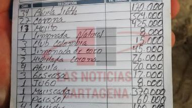 Esta fue la segunda cuenta de cobro. Al final quedó en 850 mil pesos.