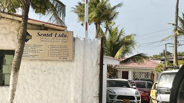 Fachada de Sentel Ltda., concesionario de alumbrado público en Piojó.