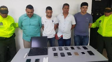 Operación contra el hurto de celulares deja cuatro capturados