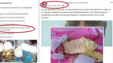 Pantallazo de la cuenta de la pareja de Angélica María Coronado.