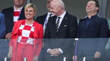 """""""No sé cómo voy a aguantar hasta el domingo"""": presidenta croata sobre la final Rusia 2018"""