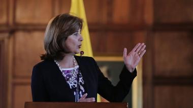 Canciller María Ángela Holguín.