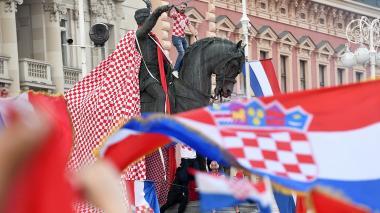 Capital de Croacia se viste de rojo y blanco para recibir a sus subcampeones
