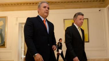 Iván Duque y Juan Manuel Santos.