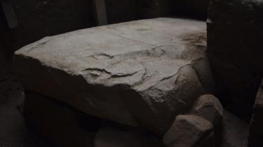 Un detalle del nuevo descubrimiento arqueológico en el sitio arqueológico de Tak