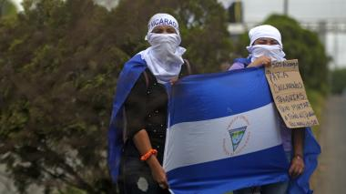 Estudiantes conmemoran 100 días de protestas contra el gobierno en Nicaragua