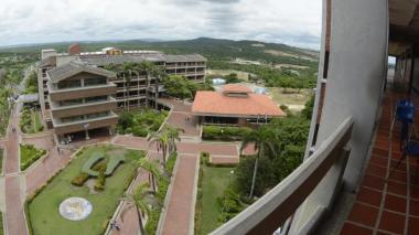 Panorámica aérea de la sede norte de la Universidad del Atlántico.