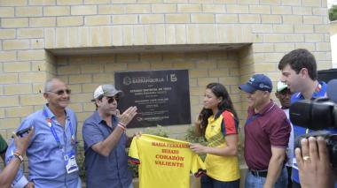 """En video   """"Vamos a darlo todo en la cancha"""": Mafe Herazo en el Parque de Raquetas que lleva su nombre"""