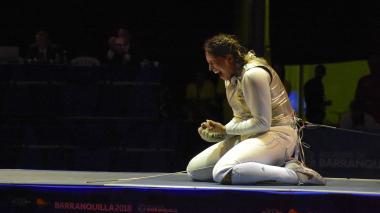La colombiana Saskia Van Erven, florete dorado