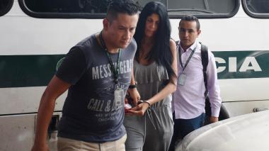 Liliana del Carmen Campos Puello a la llegada al complejo judicial de Cartagena.