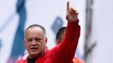 Diosdado Cabello durante un discurso en la Plaza Bolívar, en el centro de Caracas.