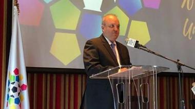 El dirigente Jorge EnriqueVélez ofreció ayer su primera rueda de prensa como presidente de la Dimayor.