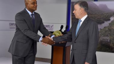 Ministro de Ambiente, Luis Murillo y el presidente Juan Manuel Santos.