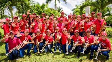 Fueron 120 niños y jóvenes de la agrupación departamental los que viajaron ayer a Bogotá.