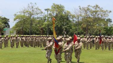 Uniformados del Ejército Nacional durante los eventos desarrollados el pasado martes.