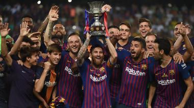 El Barcelona gana la Supercopa de España al vencer 2-1 al Sevilla