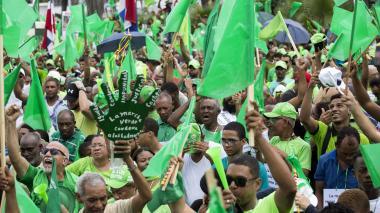 Dominicanos marcharon contra la corrupción y la impunidad