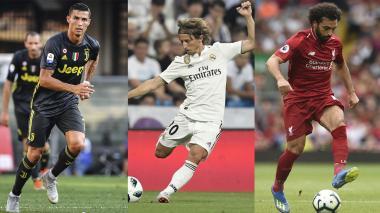 Ronaldo, Modric y Salah: finalistas al mejor jugador UEFA