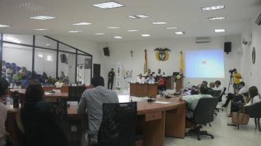 Aspecto de la sesión del Concejo Distrital que se desarrolló el pasado 1 de agosto.