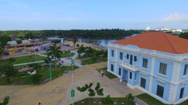 Vista de la Intendencia Fluvial de Barranquilla.