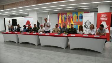 Acto de inauguración de la jornada electoral.