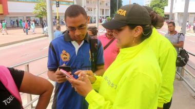 Lanzan campaña contra hurto de celulares en el Sistema de Transporte de Transcaribe